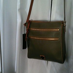 Dooney an Bourke Pebble Leather Olive Green Bag